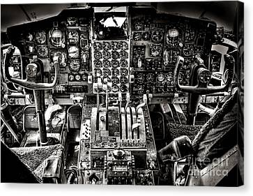 Cabin Interiors Canvas Print - The Cockpit by Olivier Le Queinec