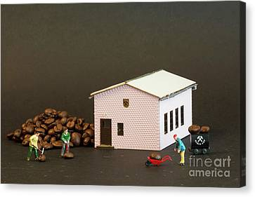 The Coffee Miners Canvas Print by Steve Purnell