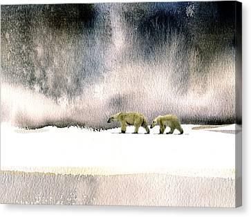 The Cold Walk Canvas Print by Paul Sachtleben