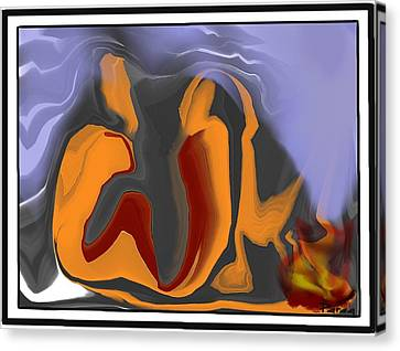 The Cold Wave Canvas Print