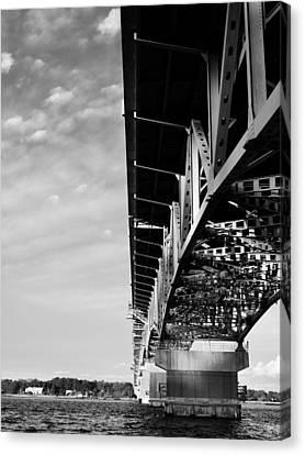The Coleman Bridge Canvas Print by Rachel Morrison