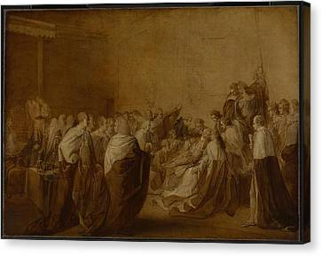 The Collapse Of The Earl Of Chatham Canvas Print by John Singleton Copley