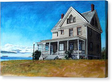 The Colonel's House Canvas Print by Perry Woodfin