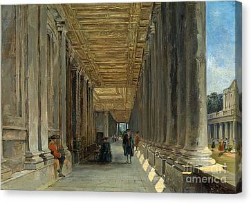 The Colonnade Of Queen Mary Canvas Print by MotionAge Designs
