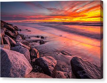 The Color Of Twilight Canvas Print by Peter Tellone