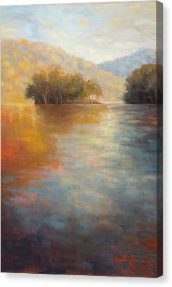The Color Of Water Canvas Print by Jonathan Howe