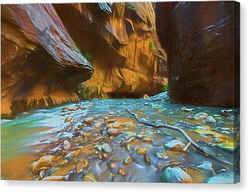 The Color Of Water Canvas Print
