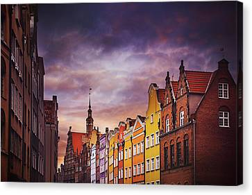 The Colorful Architecture Of Gdansk Canvas Print