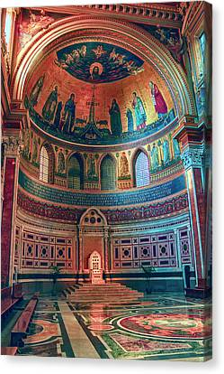 The Colorful Interior Of Roman Catholic Cathedral Canvas Print
