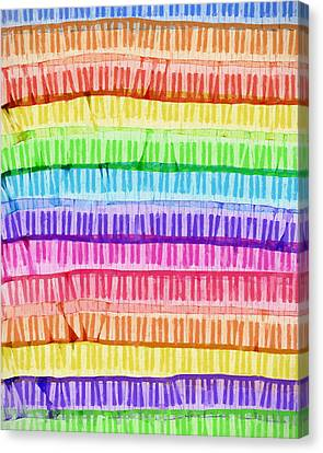 Classical Music Canvas Print - The Colorful Keys by Dan Sproul
