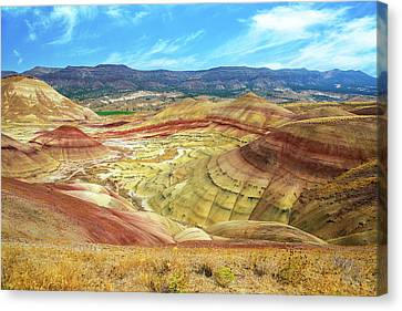Canvas Print - The Colorful Painted Hills In Eastern Oregon by David Gn