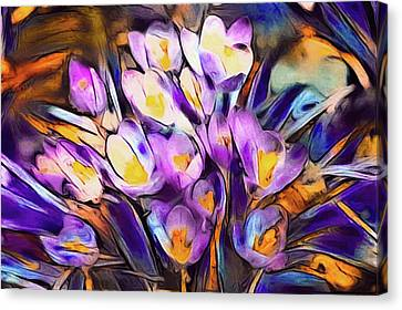 Blue Grapes Canvas Print - The Colors Of Crocus by Susan Maxwell Schmidt
