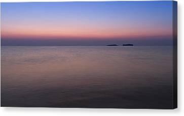 Dawn At The Mediterranean Sea Canvas Print