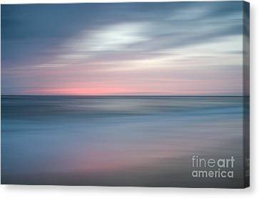 The Colors Of Evening On The Beach Landscape Photograph Canvas Print by Melissa Fague