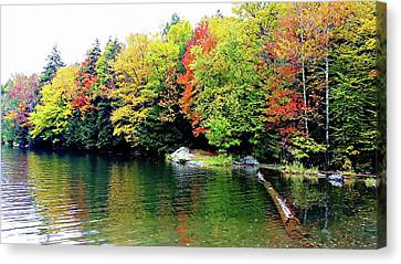 Canvas Print featuring the photograph The Colors Of Lake Raponda - Wilmington, Vermont by Joseph Hendrix