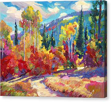 The Colors Of New Hampshire Canvas Print by David Lloyd Glover