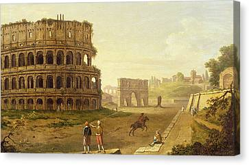 The Colosseum Canvas Print by John Inigo Richards