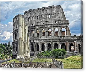 The Colosseum Canvas Print by Nigel Fletcher-Jones