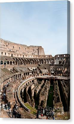 Gladiator Canvas Print - The Colosseum P by Andy Smy