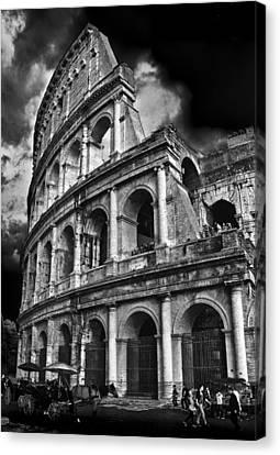The Colosseum Rome Canvas Print by Darren Burroughs