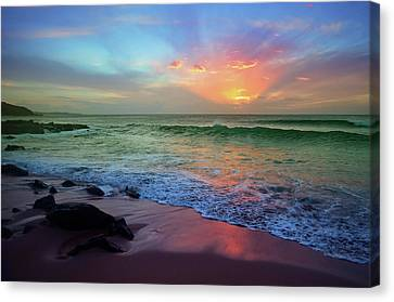 Canvas Print featuring the photograph The Colour Before The Darkness by Tara Turner