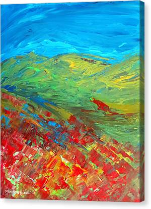 The Colour Of Summer Canvas Print by Elizabeth Kendall