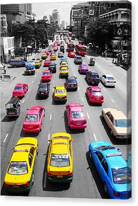 The Colours Of Bangkok Canvas Print by Kelly Jones