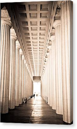 The Columns At Soldier Field Canvas Print