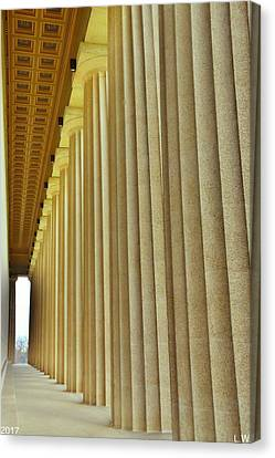The Columns At The Parthenon In Nashville Tennessee Canvas Print by Lisa Wooten