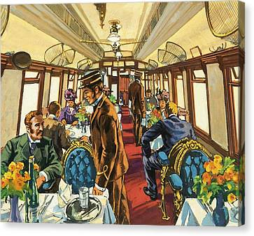The Comfort Of The Pullman Coach Of A Victorian Passenger Train Canvas Print