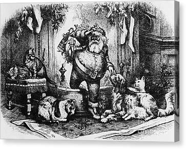 The Coming Of Santa Claus Canvas Print by Thomas Nast