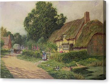 The Coming Of The Haycart  Canvas Print by Arthur Claude Strachan