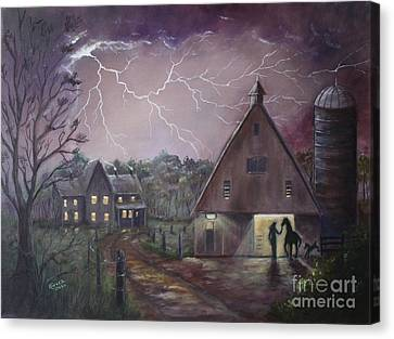 The Coming Storm Canvas Print by Marlene Kinser Bell