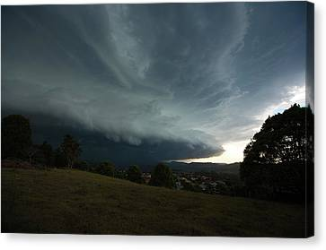 Canvas Print featuring the photograph The Coming Storm by Odille Esmonde-Morgan