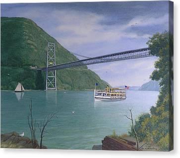 The Commander At Bear Mt. Bridge  Canvas Print by Glen Heberling