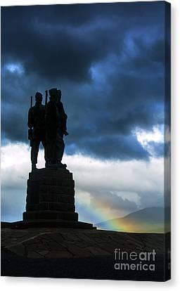 The Commando Memorial, Scotland, Uk Canvas Print by Diane Diederich