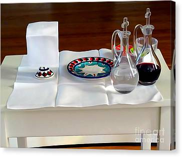 The Communion Table Canvas Print by Ed Weidman