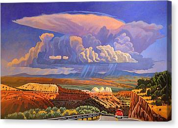 Canvas Print featuring the painting The Commute by Art West
