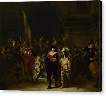The Company Of Captain Banning Cocq The Nightwatch Canvas Print