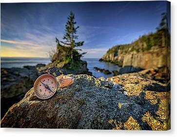 Quoddy Canvas Print - The Compass by Rick Berk