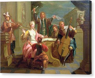Sheets Canvas Print - The Concert  by Etienne Jeaurat