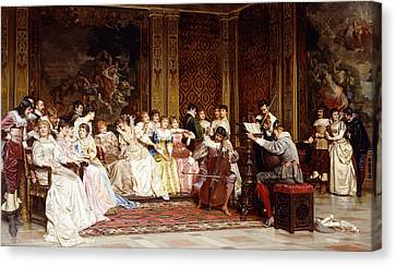 Interior Scene Canvas Print - The Concert by Joseph Frederic Charles Soulacroix