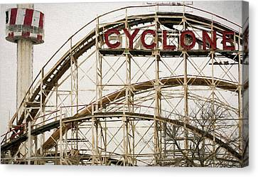 The Coney Island Cylcone Canvas Print by JC Findley