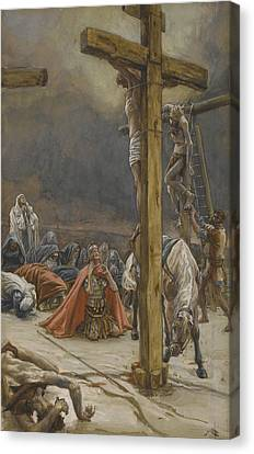 The Confession Of Saint Longinus Canvas Print by Tissot