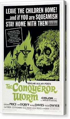 The Conqueror Worm, Aka Witchfinder Canvas Print by Everett