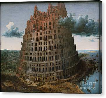 The Construction Of The Tower Of Babel Canvas Print