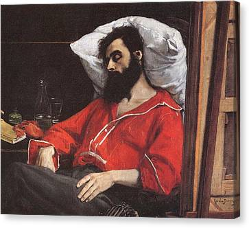 The Convalescent Canvas Print by Charles Carolus