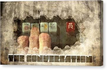 The Conversation Canvas Print by Andrea Barbieri