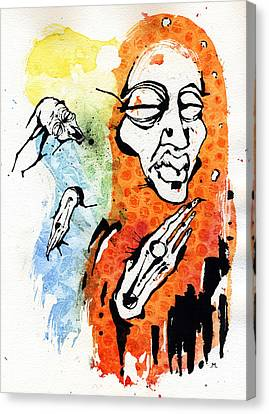 The Conversation Canvas Print by Mark M  Mellon