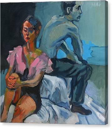 The Conversation Canvas Print by Piotr Antonow